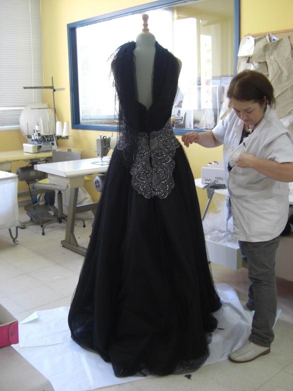 Vestido de Raimón Bundó  en tul negro
