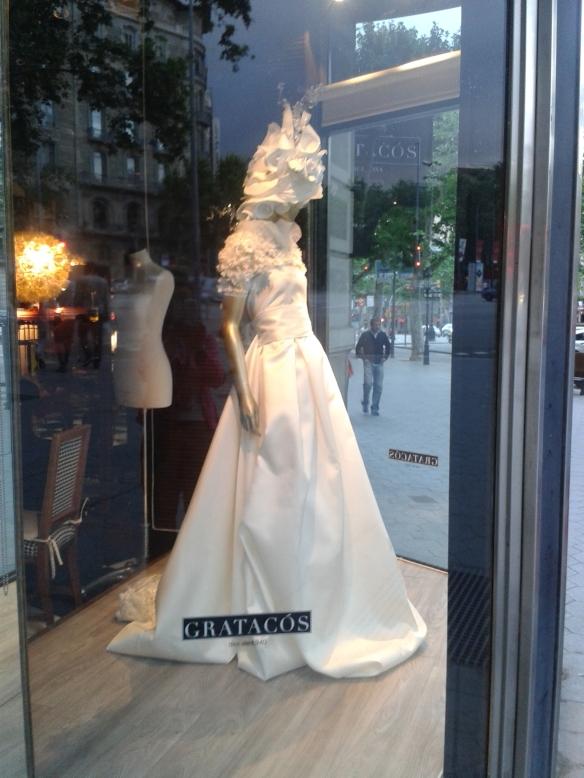 Vestido de novia de espalda