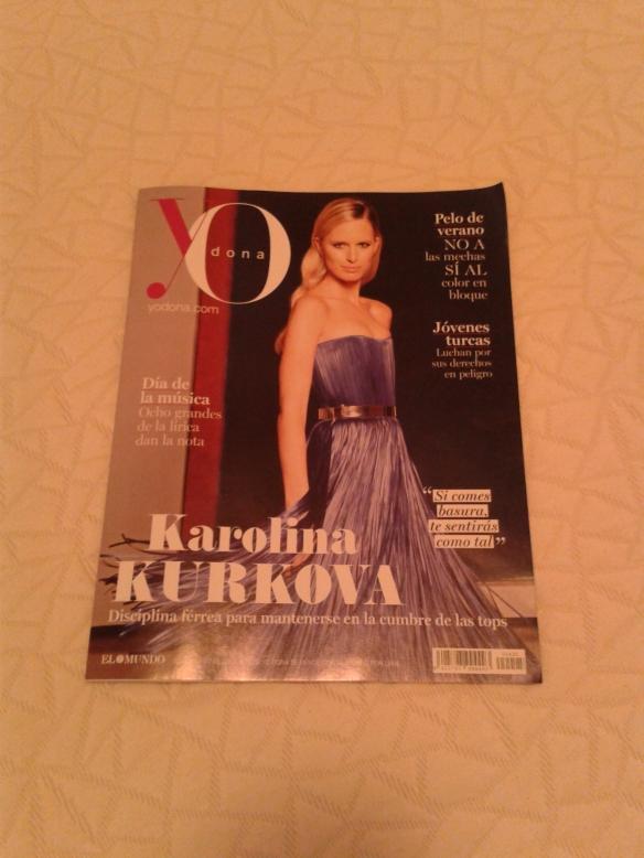 Portada de la revista de El Mundo (YO dona) del 22 de Junio de 2013.