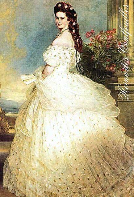 La Emperatriz Elisabeth, con un vestido con enorme volumen