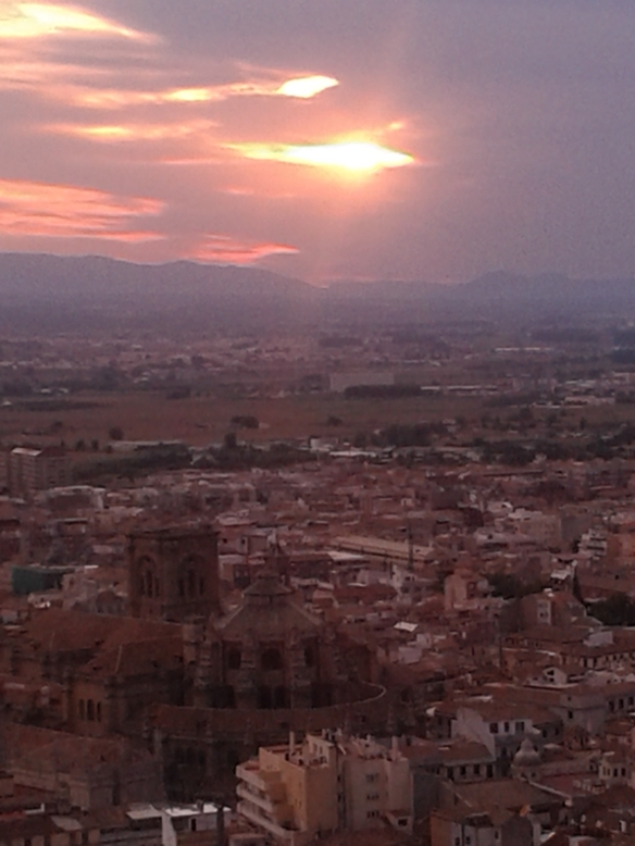 Puesta de sol desde la Alambra.