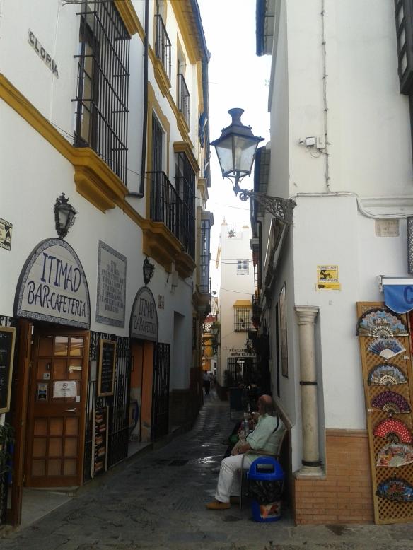 Barrio de Santa Cruz, donde hay un gran número de tiendas de artesanía y bares de Tapas.