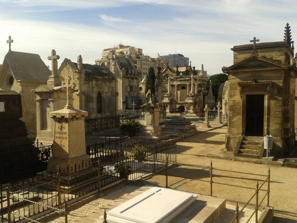 Parte antigua del cementerio.