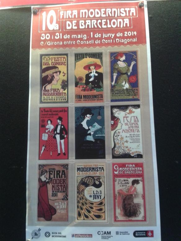 Cartel de la 10ª Feria Modernista.